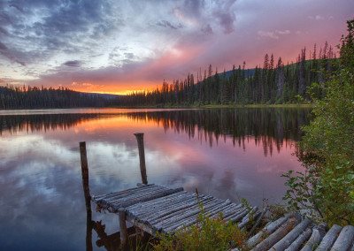 Sunset over Crescent Lake By Tineke Ziemer