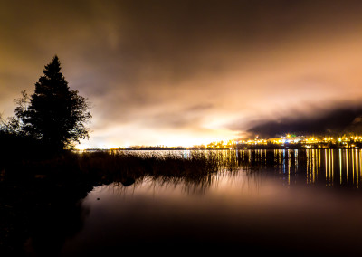 Night Fog Over Williams Lake by Amy Mitchell