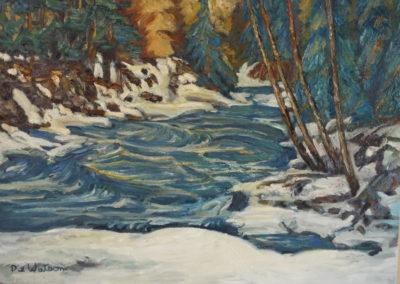 Winter Stream, Dixie Watson (artist's cover name)