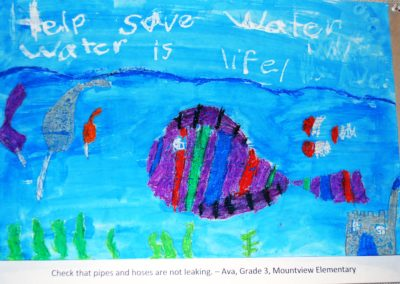 Help Save Water, Water is Life. Check that pipes and hoses are not leaking. By Ava