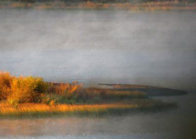 Williams lake at sugarcane fall colors By Rebecca Pickard