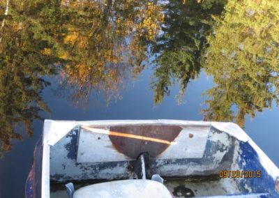 boat launch at dugan lake - reflection By Rebecca Pickard