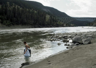 """Homeward Bound"" from the series ""The Long Way Home"" (Fraser River, Sheep Creek Bridge)  By Leah Selk"